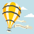 Vector illustration of hot air balloon on the sky - 70397768