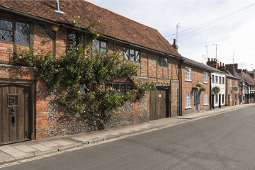 medieval houses in Friday street, Henley on Thames