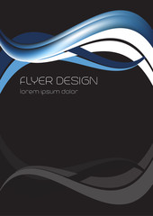 Business flyer template, corporate banner or wallpaper design