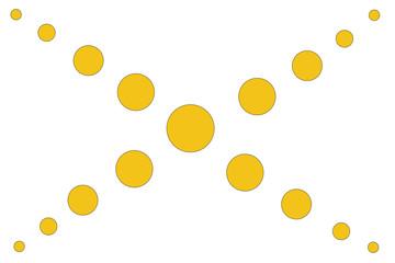 Design Vorlage gelbe Kreise zentriert