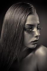 Studio conceptual female beauty portrait
