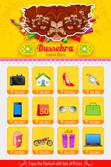 Ravan in Dussehra advertisment and promotion poster