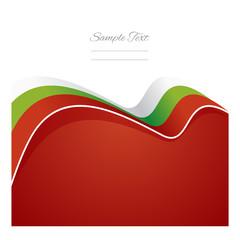 Bulgaria abstract flag ribbon vector