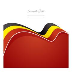 Belgium abstract flag ribbon vector
