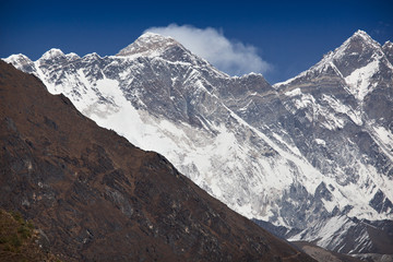 Mt. Everest - view from Namche Bazaar. Solukhumbu, Nepal