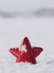 christmas star snow