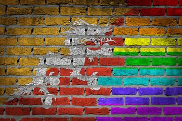 Dark brick wall - LGBT rights - Bhutan