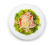 Fresh salad with crabmeat and vegetables isolated