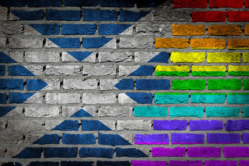 Dark brick wall - LGBT rights - Scotland