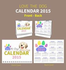 LOVE THE DOG CALENDAR 2015 COVER
