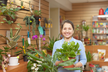 woman in floral store