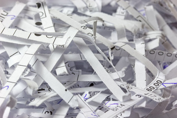 Shredded accounting