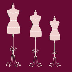 vector vintage tailor's mannequin