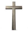 Leinwanddruck Bild - Wooden Crucifix