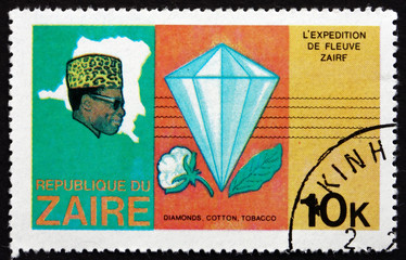 Postage stamp Zaire 1979 Diamond and Cotton Boll