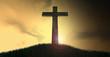 Crucifix On A Hill At Dawn - 70403189