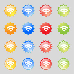 Wifi sign. Wi-fi symbol. Wireless Network icon. zone Set