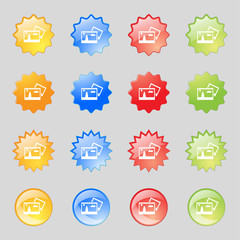 Copy File JPG sign icon. Download image file symbol. Set