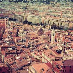 Vieille ville de Nice - Effet vintage