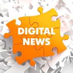 Digital News on Orange Puzzle.