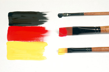painted German flag