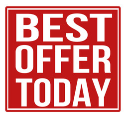 Best offer today red sign
