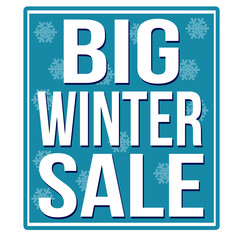 Big winter sale blue sign