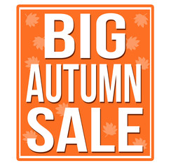 Big autumn sale orange sign