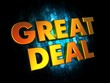 Great Deal - Gold 3D Words.