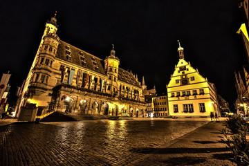 Marketplace at night