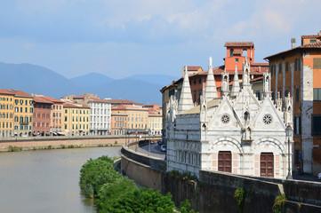 Chiesa di Santa Maria della Spina in Pisa, Italy.