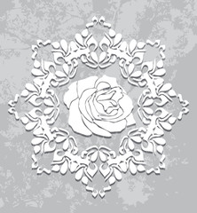 Ornamental element on the abstract gray background