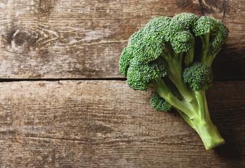 Broccolo su legno