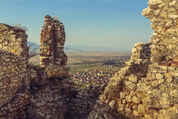 Rasnov citadel ruins detail, Romania