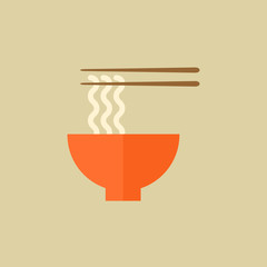 Noodles. Food Flat Icon