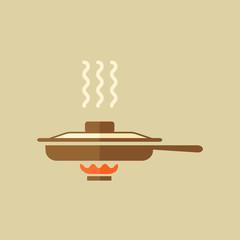 Pan. Food Flat Icon