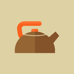 Kettle. Food Flat Icon