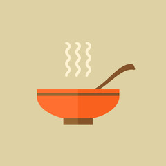 Soup. Food Flat Icon