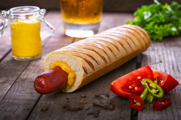 French hot dog grill