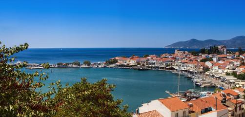 View of the port of Pythagoreio, Samos, Greece