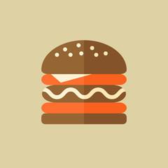 Hamburger. Food Flat Icon