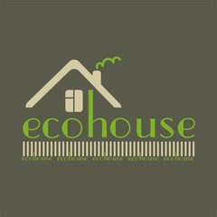 eco house eco-friendly natural materials dark background