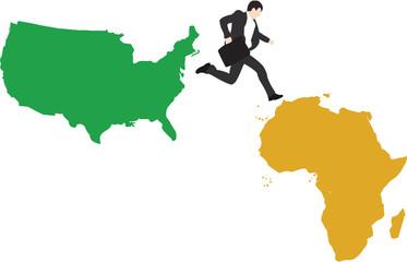 salto tra continenti