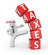 Businessman against taxes