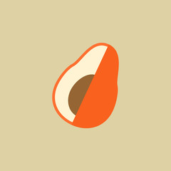Avocado. Food Flat Icon