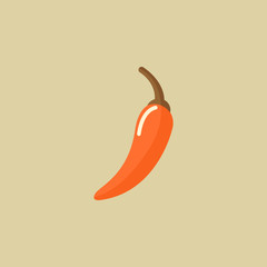 Hot Pepper. Food Flat Icon