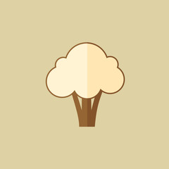Broccoli. Food Flat Icon