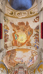 Padua -  Fresco in presbytery of Basilica di Santa Giustina