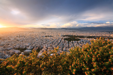 View of Athens from Lycabettus hill.