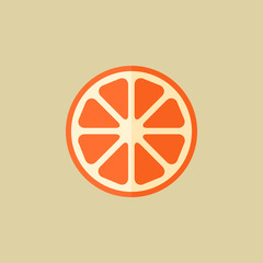 Orange. Food Flat Icon